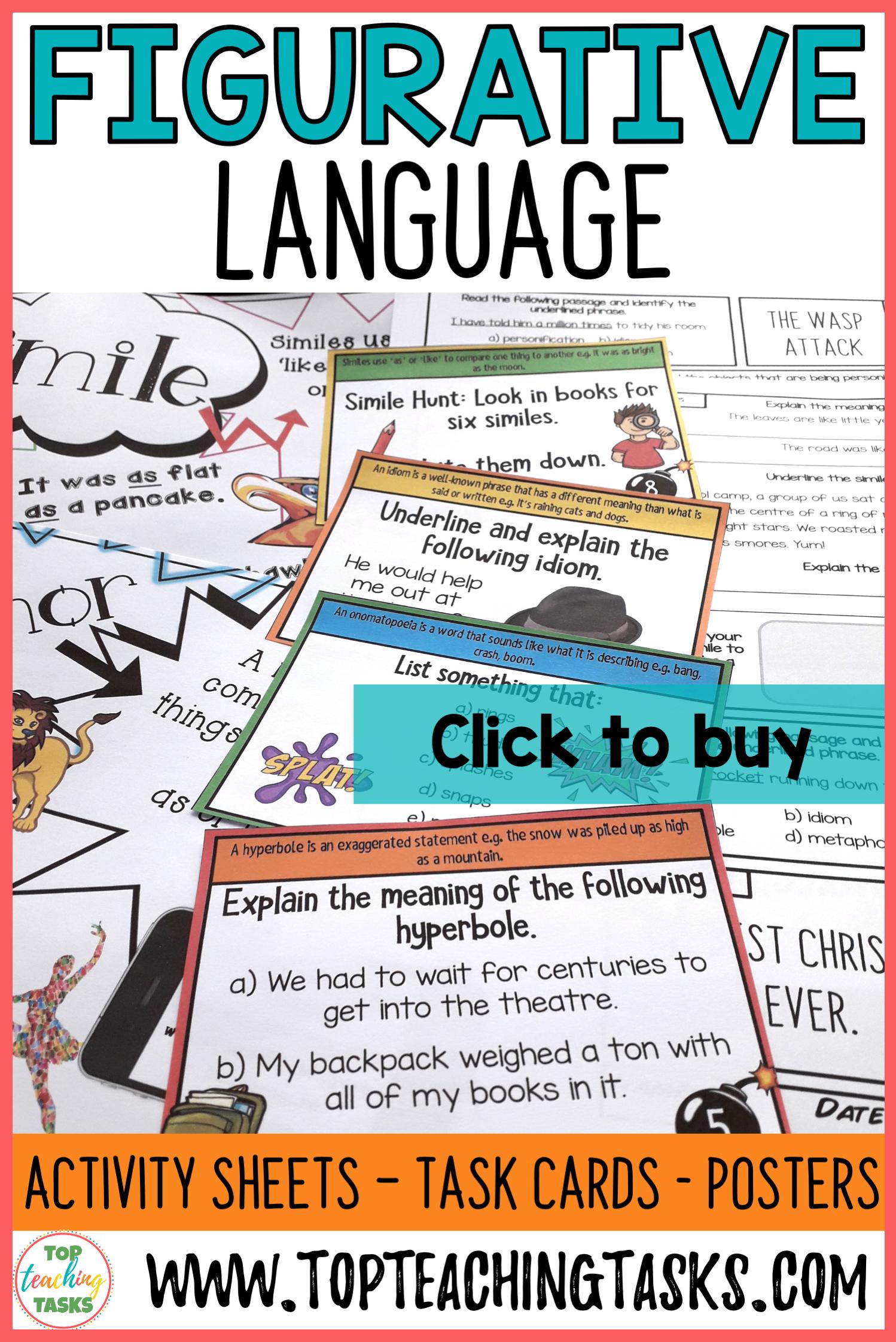 Figurative Language Activities In