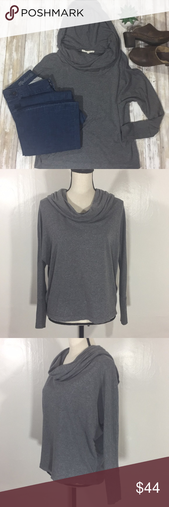 Joie Soft] Hooded cowl neck top | Hooded cowl, Cowl neck and Cozy