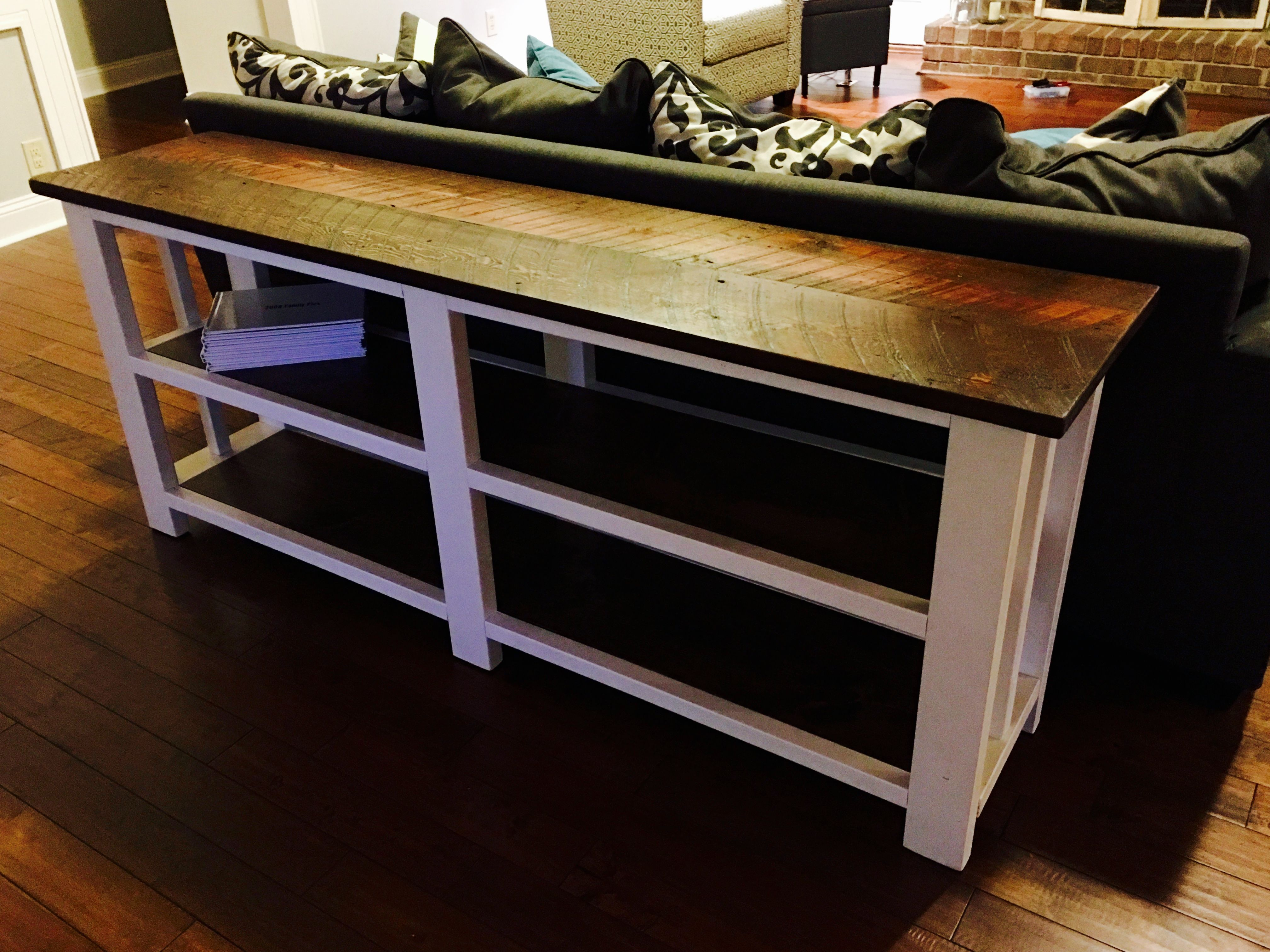 Ana White   Sofa Table With Reclaimed Wood Top   DIY Projects