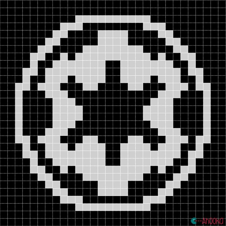 Republic Symbol Star Wars Free Chart By Ahooka Perler Bead