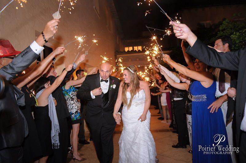 Ashley & Elvis's Grand Sparkler Exit!  #sparklerexit #grandexit #wedding #sparklers Addison I do's