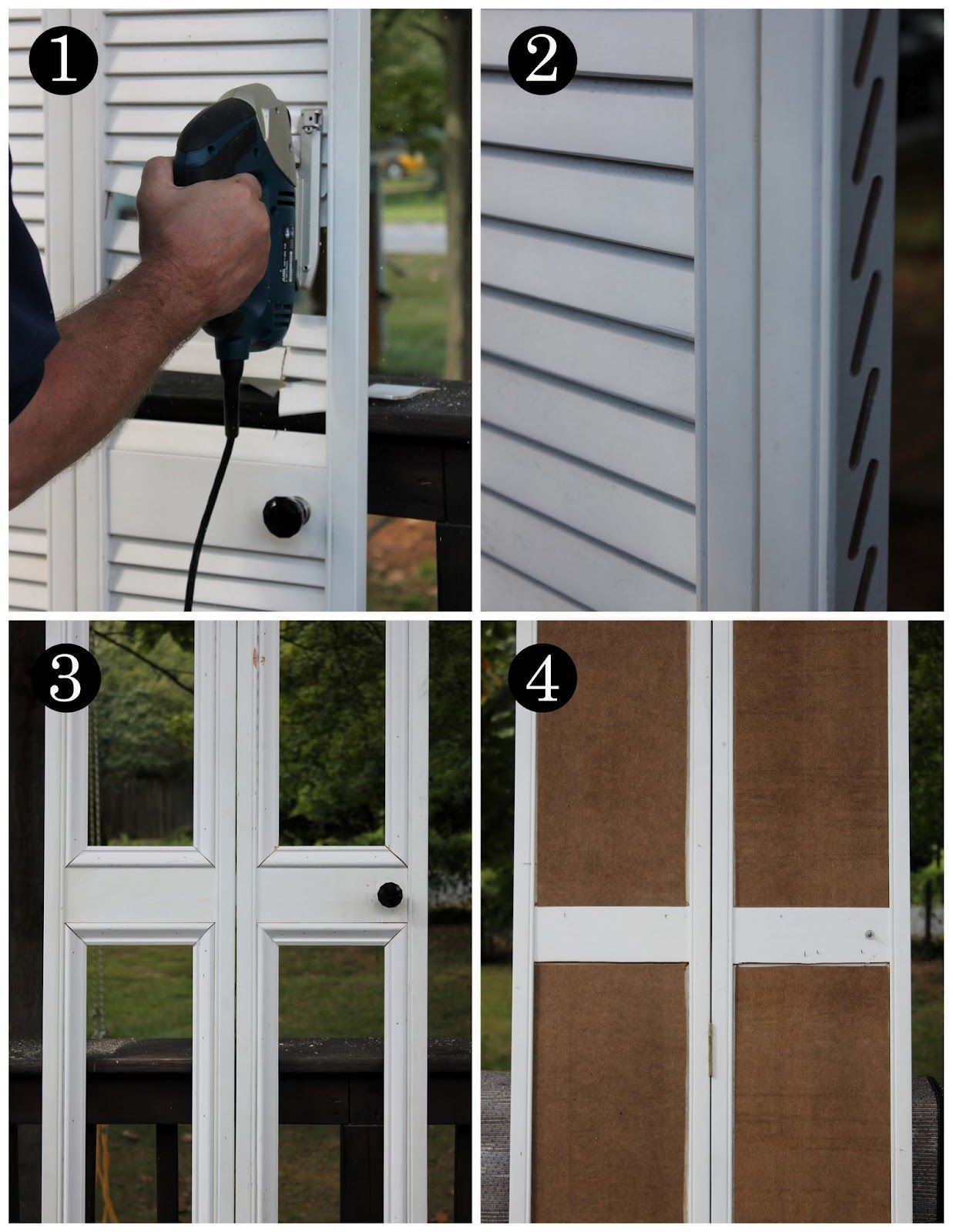 Bye Bye Louvered Doors Hello Paneled Door Makeover Diy Bifold