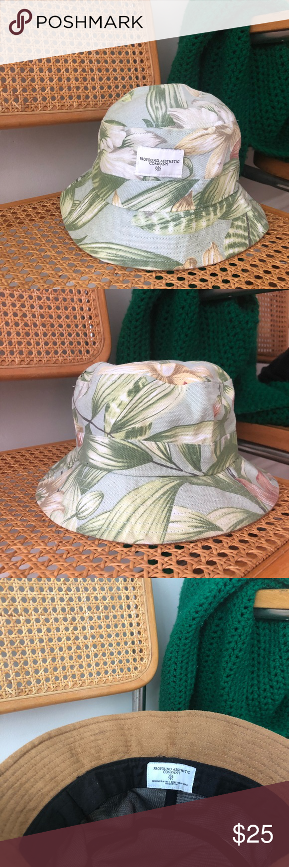 urban outfitters x profound aesthetic bucket hat 🏷 urban outfitters x profound  aesthetic company 🏷 bucket hat 🏷 tropical   floral print 🏷 100% cotton  ... ca75771a6fc6