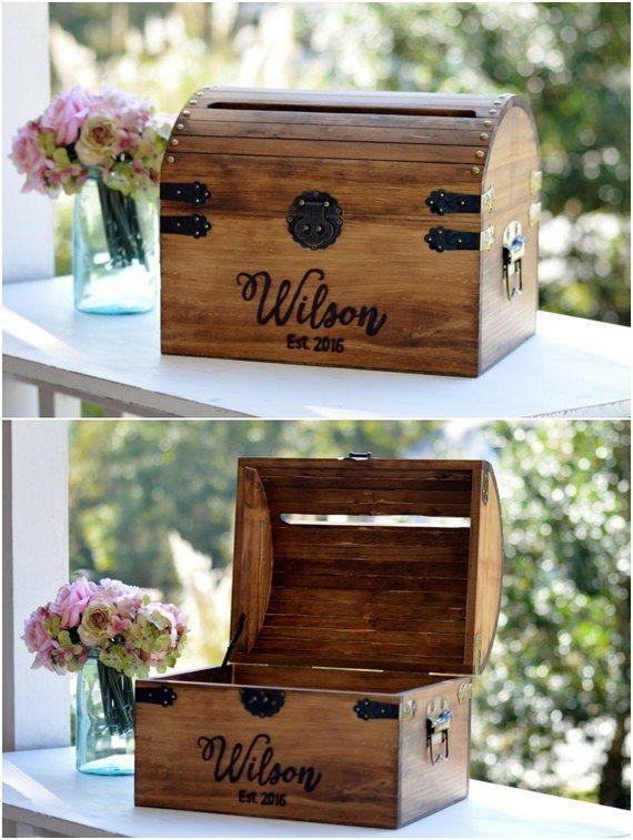 22 Creative Wedding Card Box Ideas Wood Wedding Card Box Card