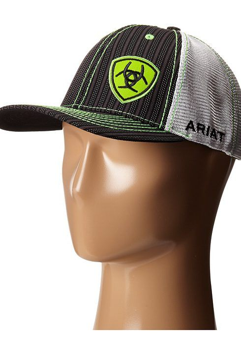 f84508b615bde Ariat 1594001 (Black Lime Green) Cowboy Hats - Ariat