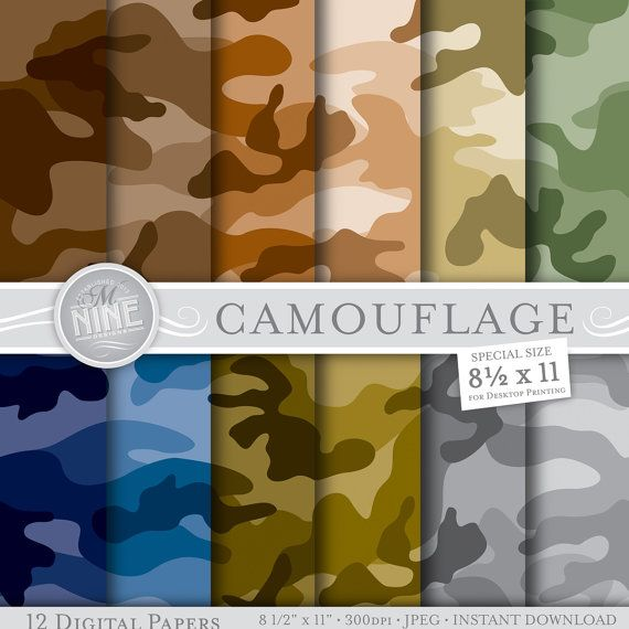 photograph about Camo Printable Paper titled CAMOUFLAGE Electronic Paper: Camouflage Printable Behavior Print