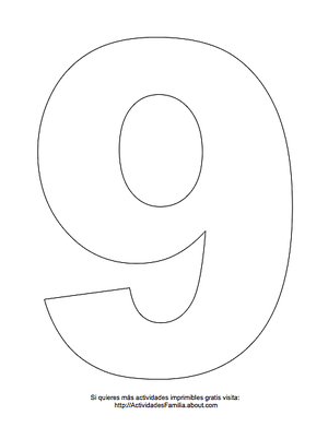 Números Para Imprimir Y Colorear Sablon Numero Para Imprimir