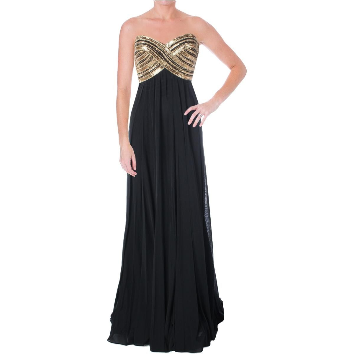 JVN by Jovani Womens Beaded Prom Formal Dress