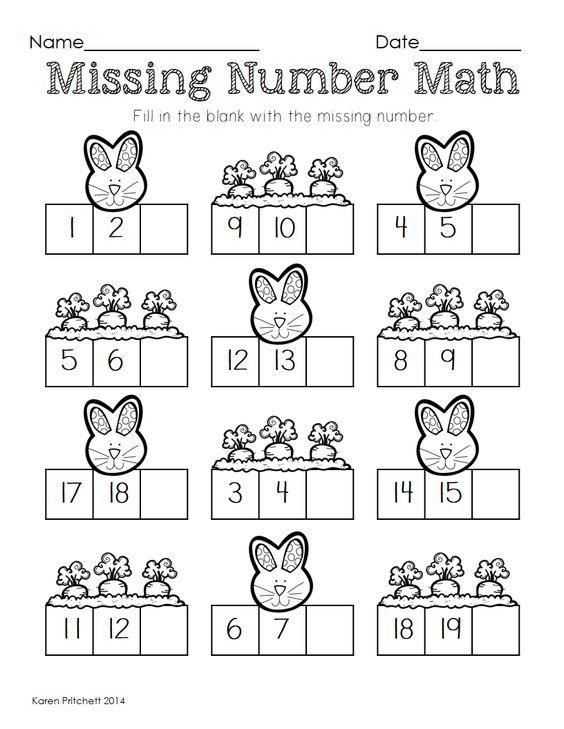 Missing Number Math Worksheets Delibertad – Missing Number Worksheets