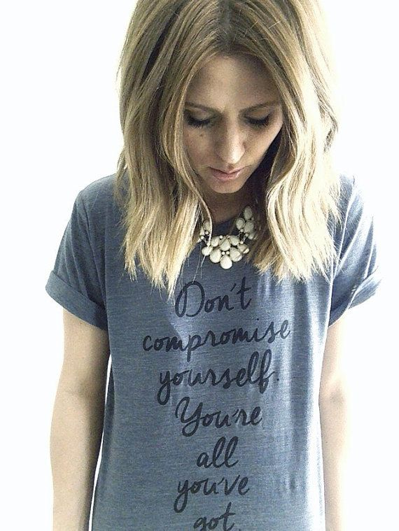 Womens janis joplin tshirt dont compromise yourself tee for Mercedes benz sweater