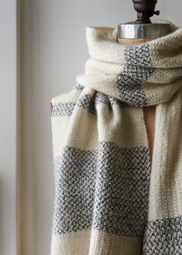 Peppered Stripes Wrap - Purl Soho - linen stitch for that extra wide ...