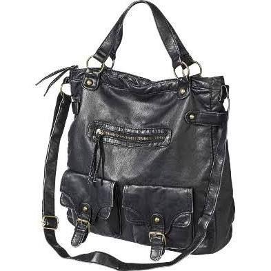4895ff8f4d5 Mossimo Supply Co. Tote Handbag with Crossbody Strap - Black ...