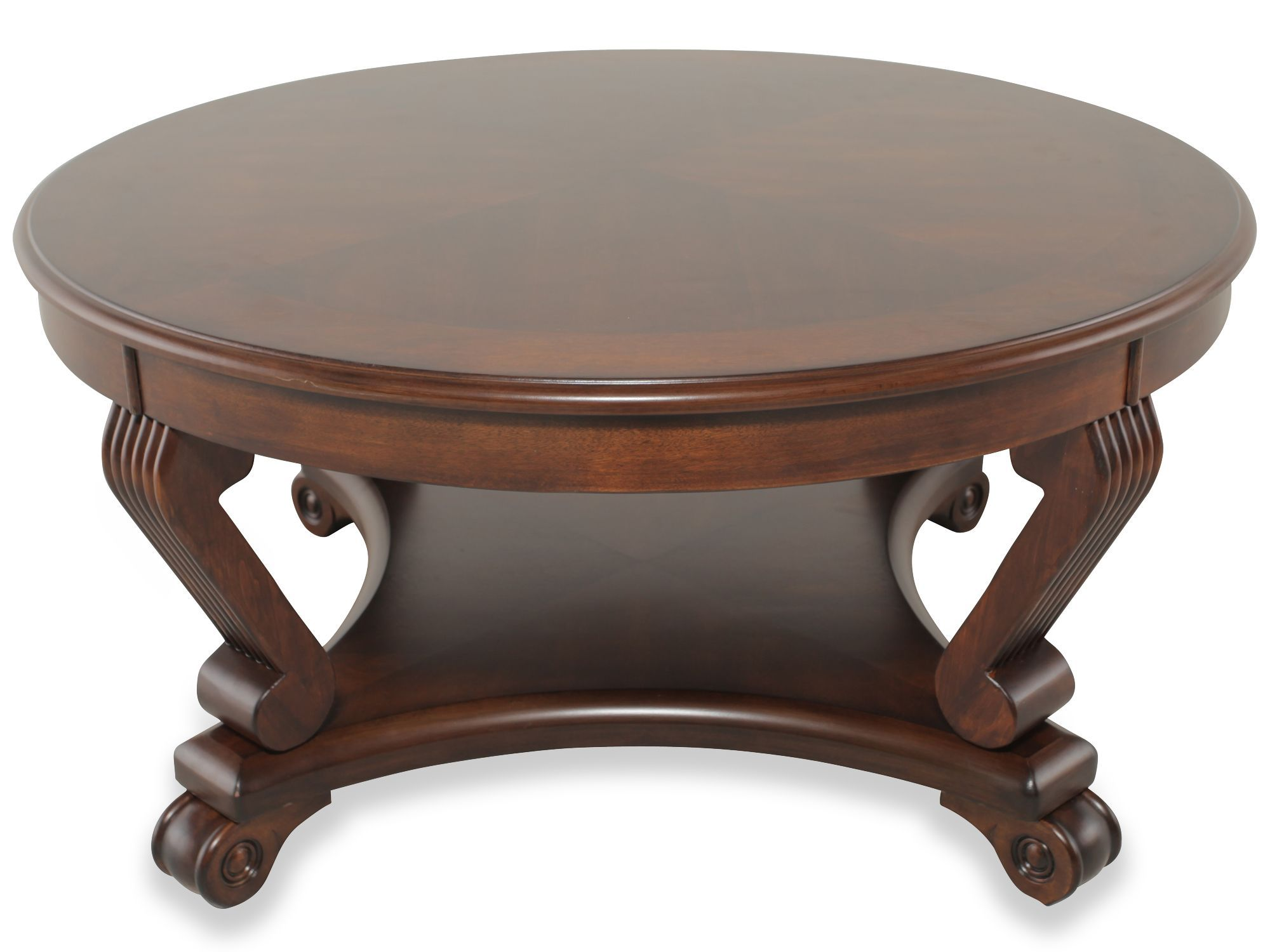 Ashley Brookfield Round Cocktail Table Mathis Brothers Furniture