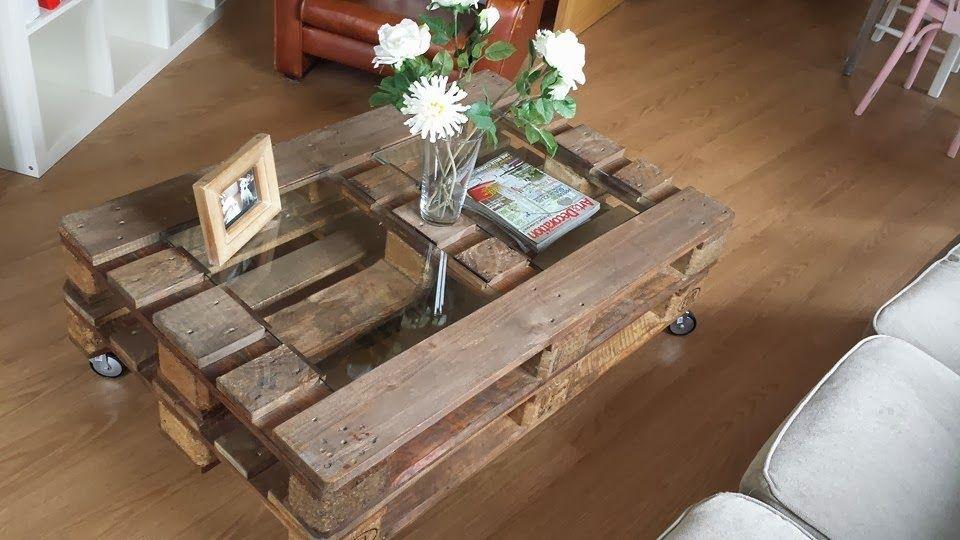 pequea mesa de palets europeos ideal como mesita de centro o auxiliar perfecta para cualquier estancia mesas con palets pinterest mesas - Mesas Con Palets