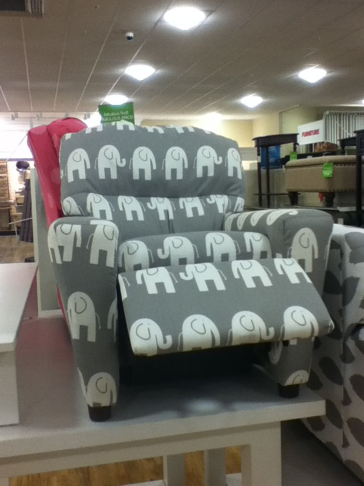 Elephant recliner   Saw this at Home Goods and had to take a pic. Elephant recliner   Saw this at Home Goods and had to take a pic