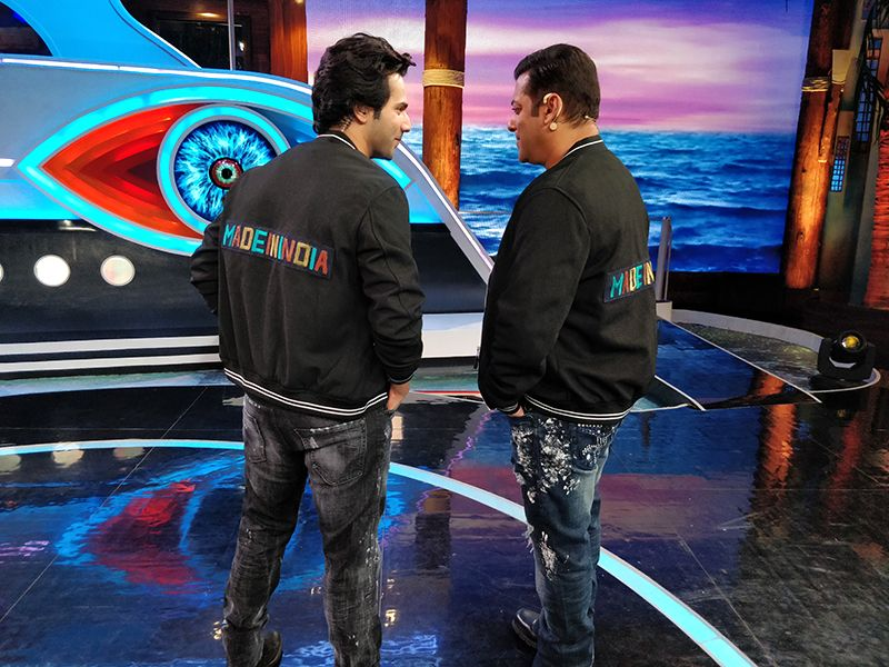 Varun sews Salman a special gift, makes Made In India jacket!