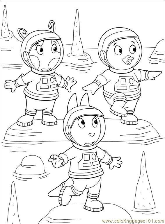 bookmarks to color | free printable coloring page Backyardigans 021 ...