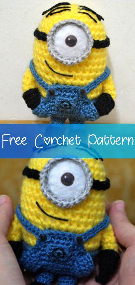 Minion Stuart Pattern [CROCHET FREE PATTERNS] #minioncrochetpatterns