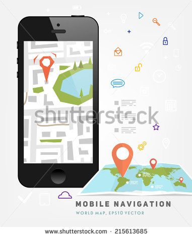 World map mobile gps navigation mobile phone mobile world map mobile gps navigation mobile phone mobile technologies concept stock gumiabroncs Gallery