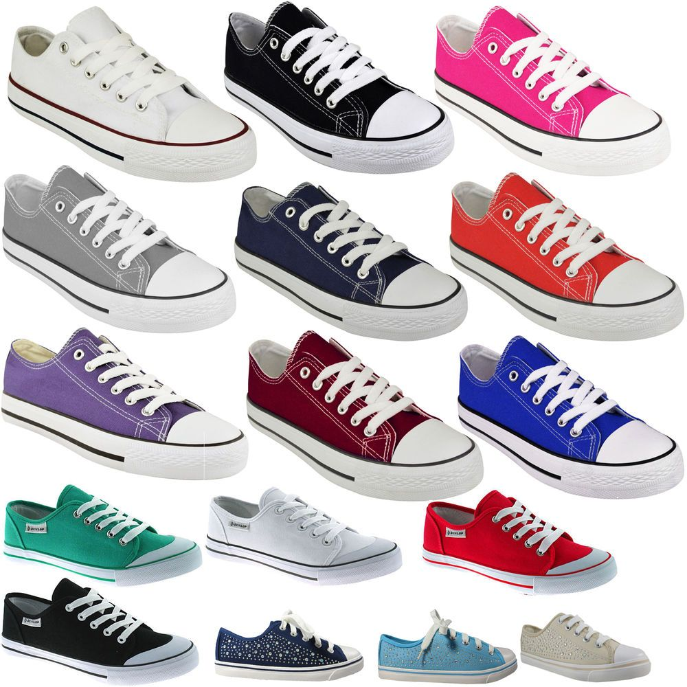 Mujer TRAINERS LADIES PUMPS FLATS LACE UP SKATER SKATER UP CANVAS CASUAL HOLIDAY zapatos 0382e0