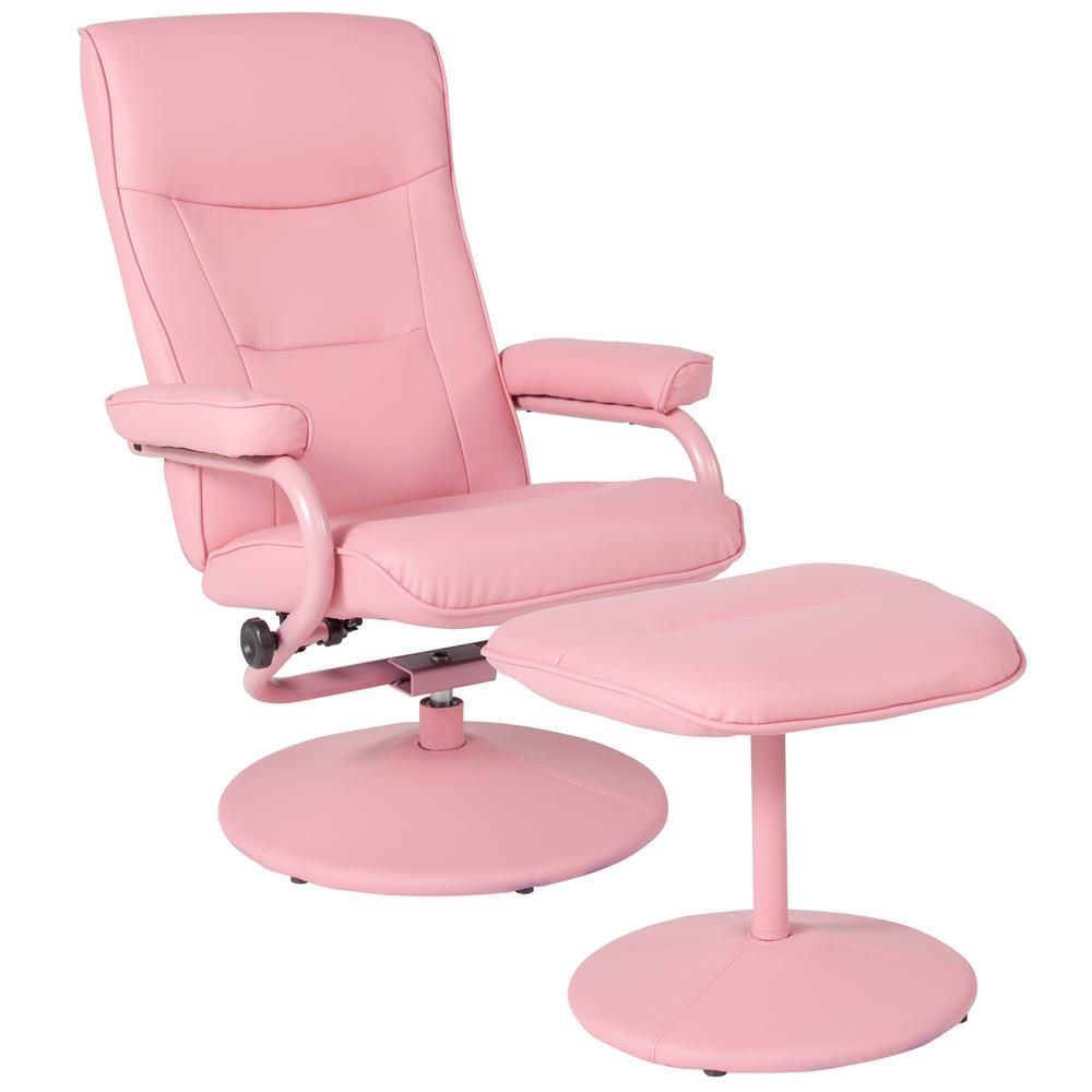 Flash furniture pink vinyl recliner in 2019 vinyl