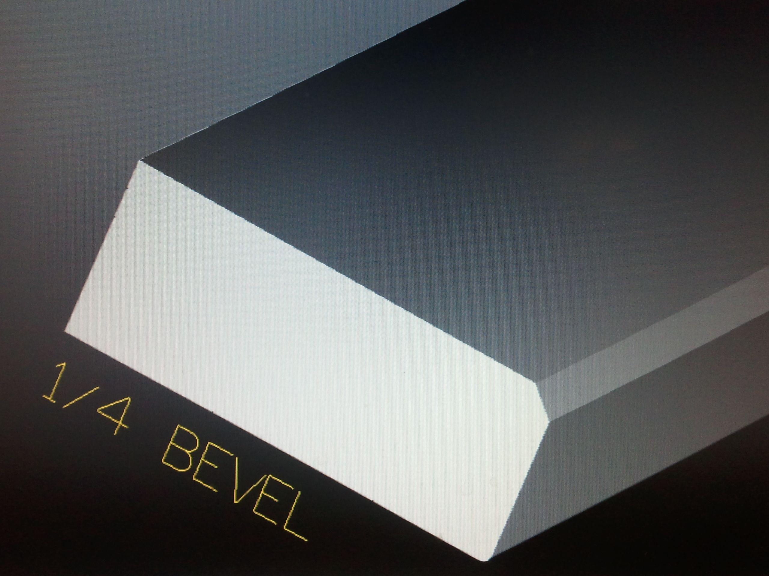 1 4 Bevel Edge Beveled Edge Edge Profile Bevel