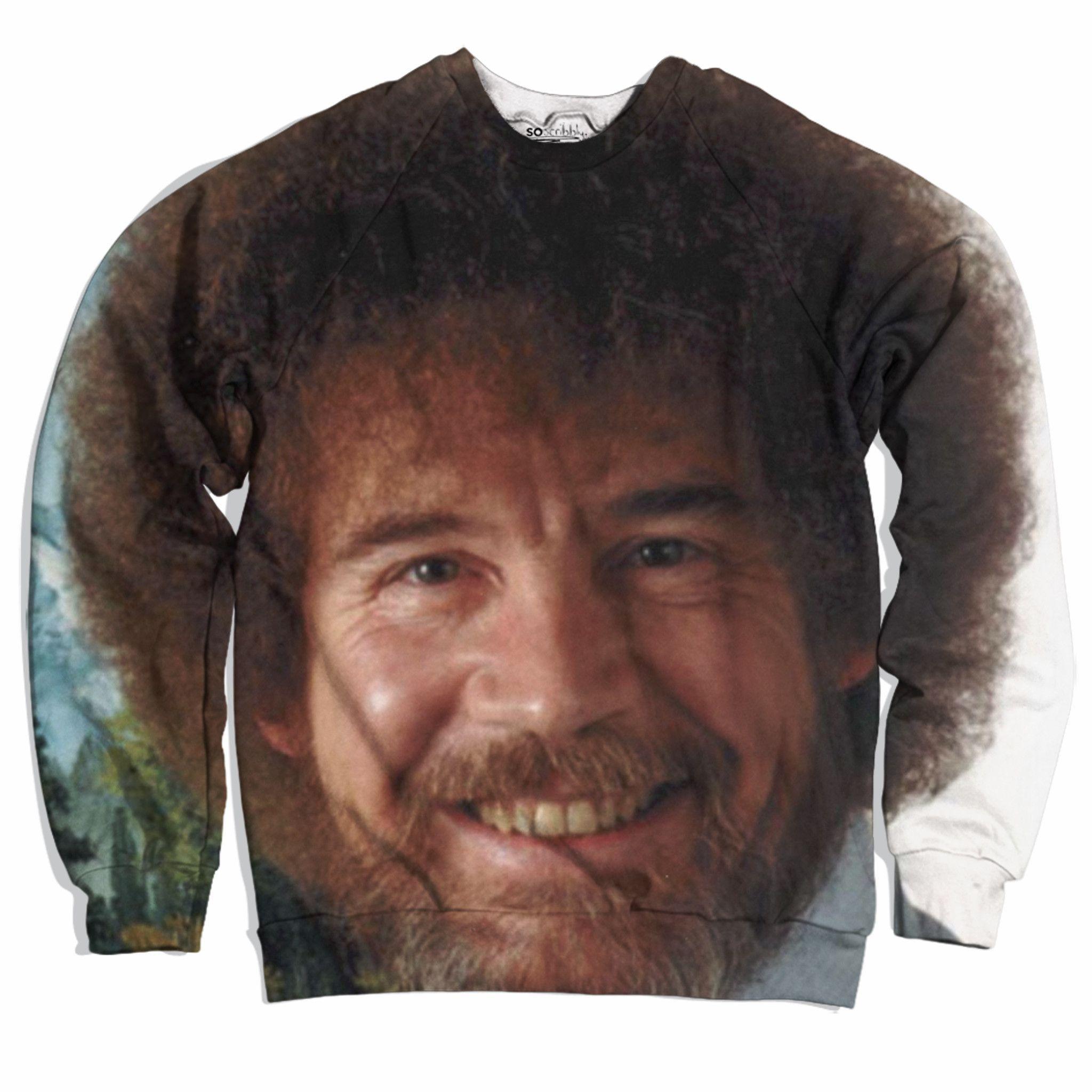 f921dd46 Bob Ross's Face Sweater | Beautiful things | Bob ross shirt, Bob ...