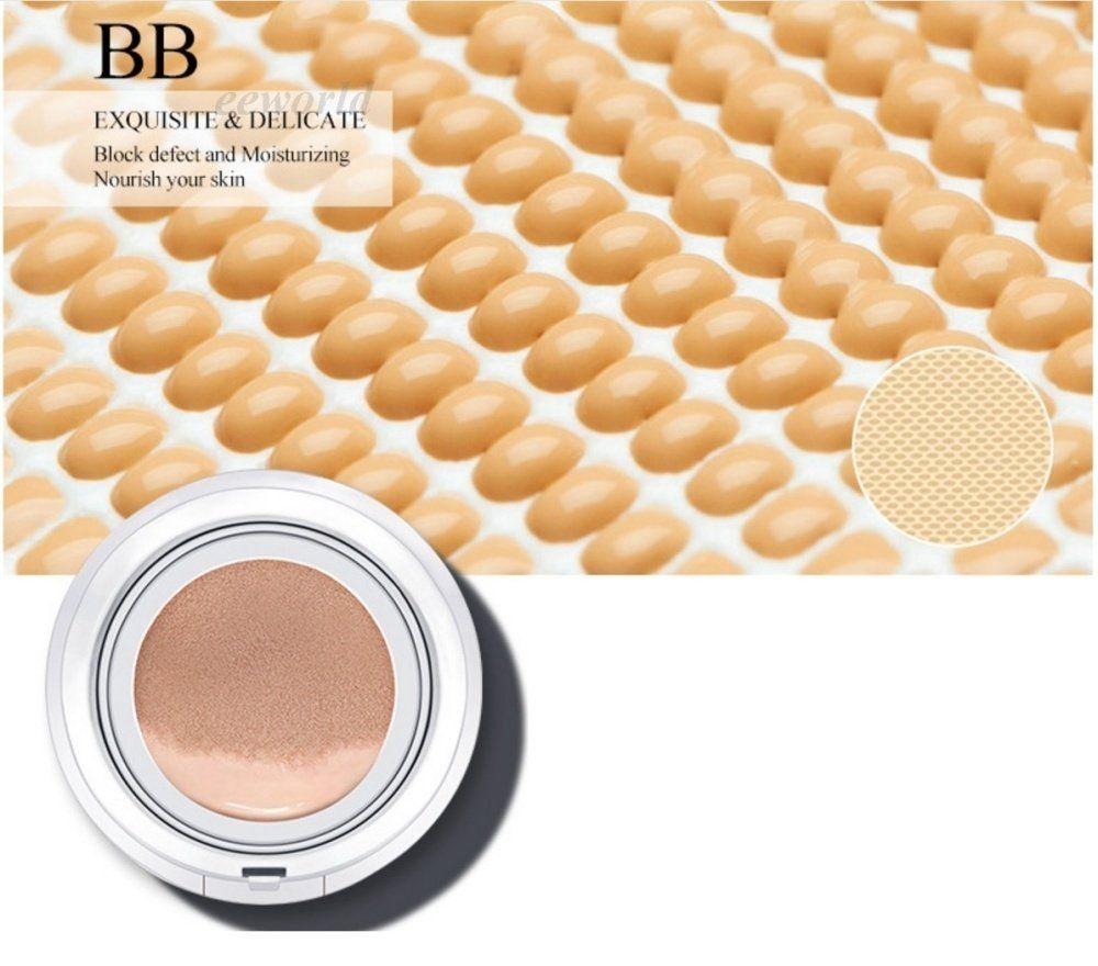 Bioaqua Exquisite And Delicate Bb Cream Air Cushion Pack Gold Case Ivory White 02 Plus Refill Spf 50 Foundation