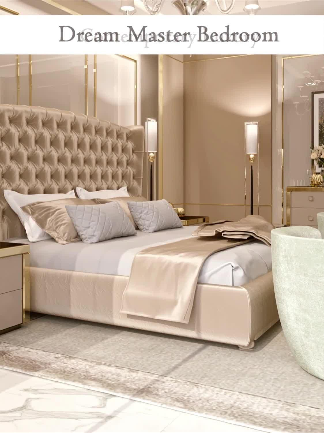 Modern style luxury master bedroom interior video by Fancy house