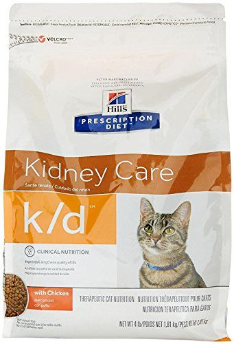 Hills Prescription Diet Kd Feline Renal Health Dry Food 4lb Bag You Can Find More Details By Visiting The Image Lin Cat Nutrition Best Cat Food Dry Cat Food