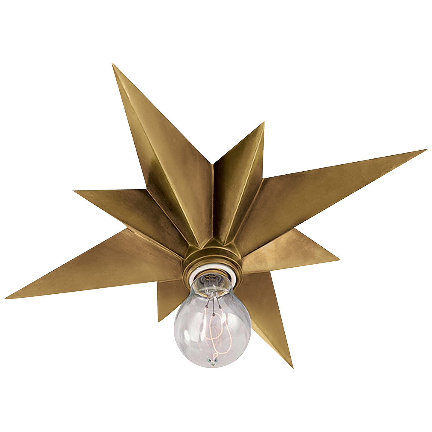 Star Flush Mount In Hand Rubbed Antique Brass Visual Comfort Lighting Flush Mount Ceiling Visual Comfort
