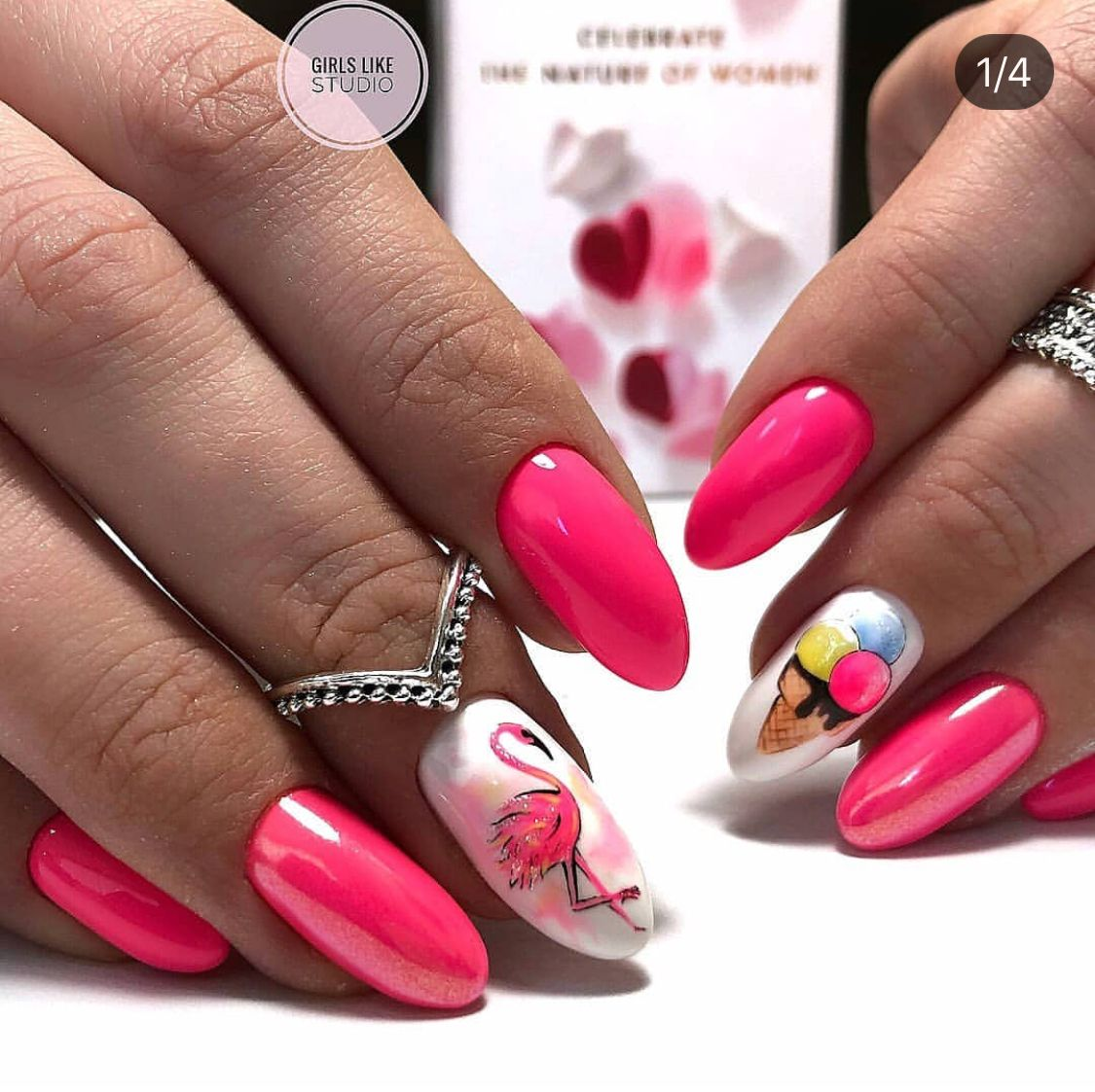 Pin By Iva On Manicure Ideas Flamingo Nails Nail Art Designs