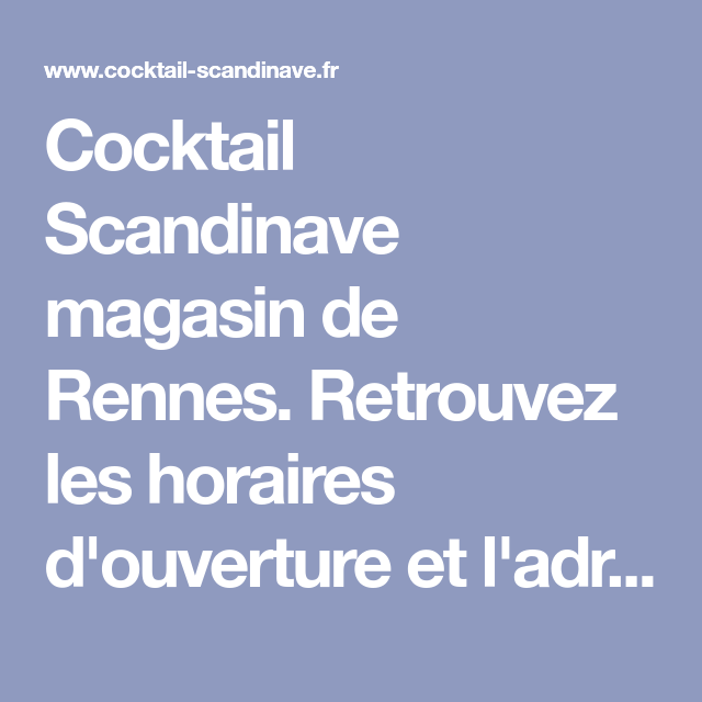 cocktail scandinave rennes magasin et