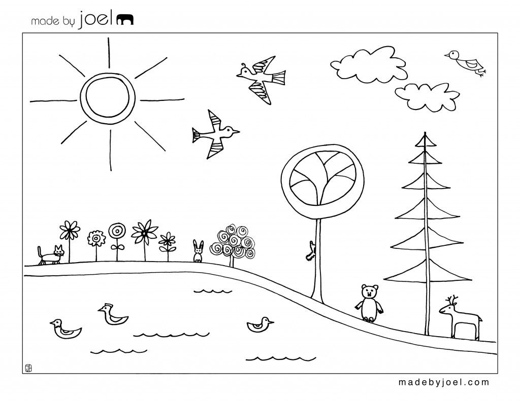 Made By Joel Earth Day Coloring Sheet Free Printable