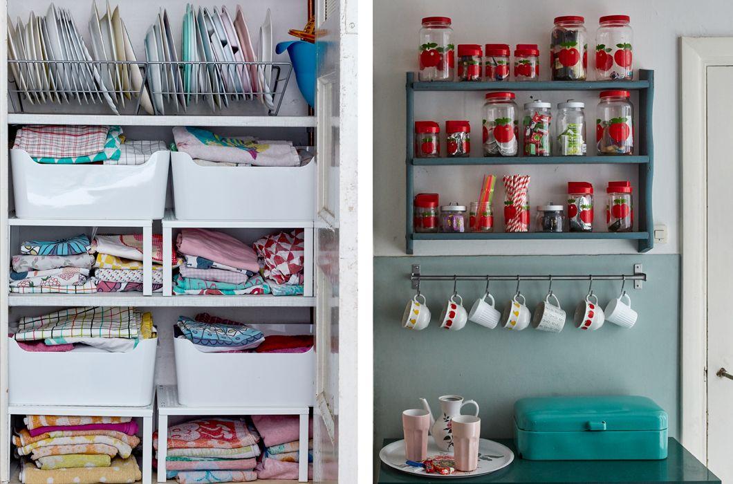 Gif que muestra los armarios de cocina de annemarie for Organizar armarios cocina