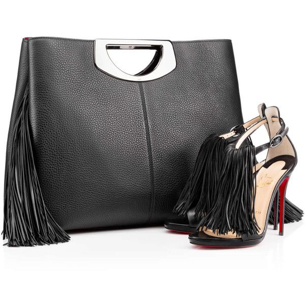 eb65039ee6 Christian Louboutin Passage Shopping Fringes ($2,450) ❤ liked on Polyvore  featuring bags, handbags, pouch purse, leather handbags, leather fringe  handbag, ...