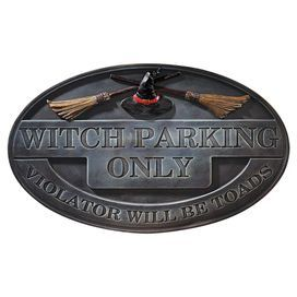 Witch Parking Sign Wall Decor
