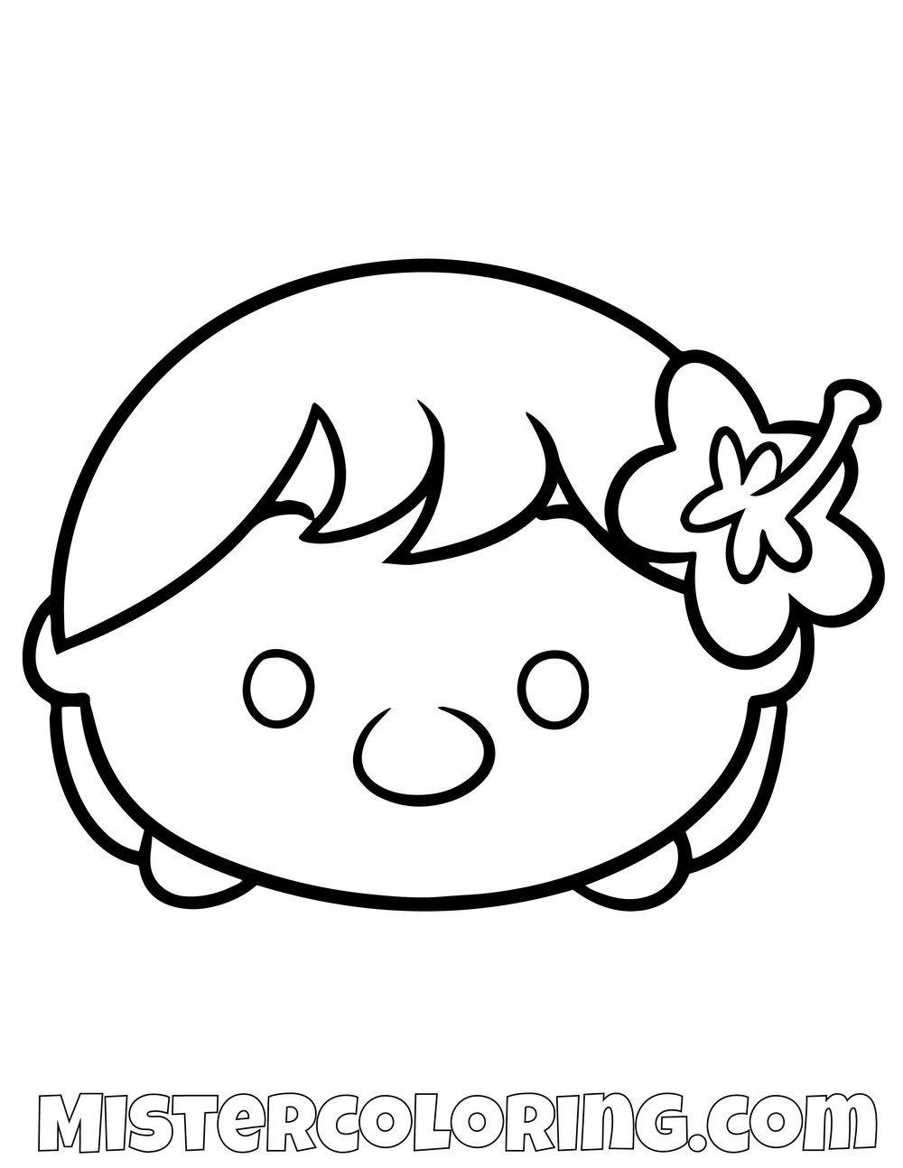 Lilo From Lilo And Stitch Tsum Tsum Coloring Pages For Kids Tsum Tsum Coloring Pages Coloring Pages For Kids Coloring Pages