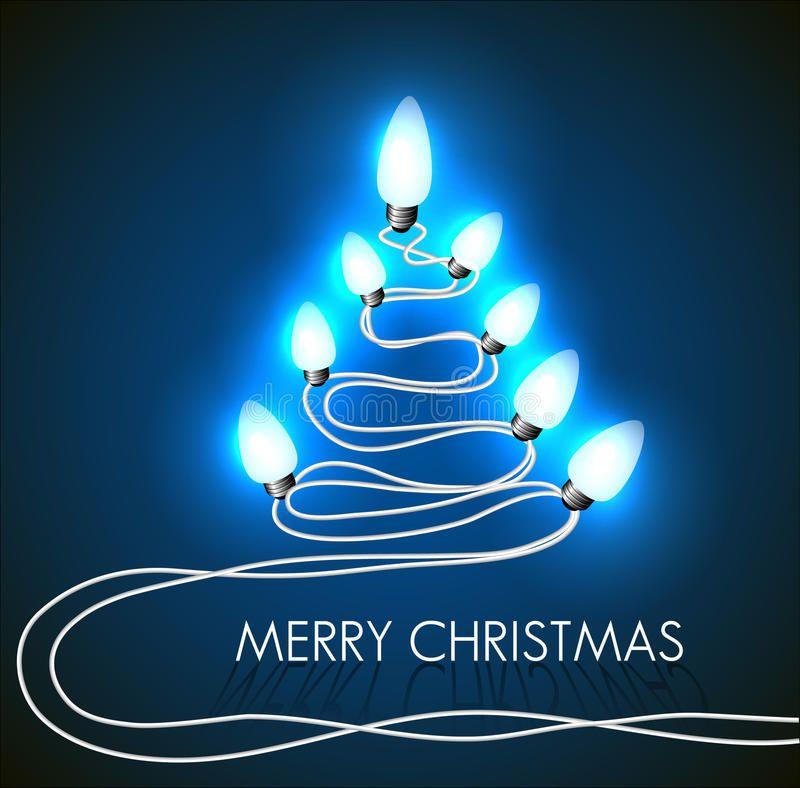Glowing Light Christmas Tree Vector Free Vector Art Christmas Tree Lighting Christmas Christmas Tree