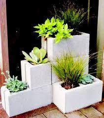 Resultado de imagen para mesa bloque hormigon y vidrio for Jardineras con bloques