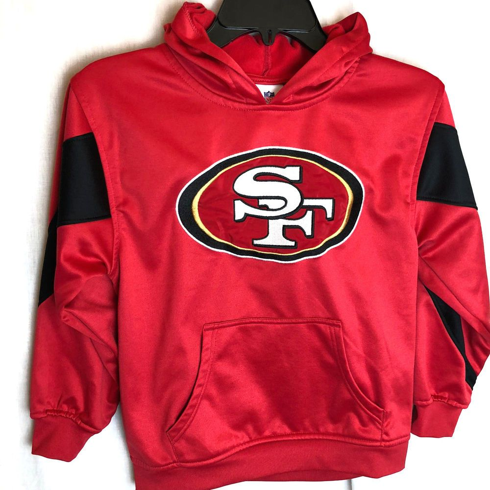 San Francisco 49ers Team Apparel Youth Size Small 8 Performance Hooded Sweatshirt