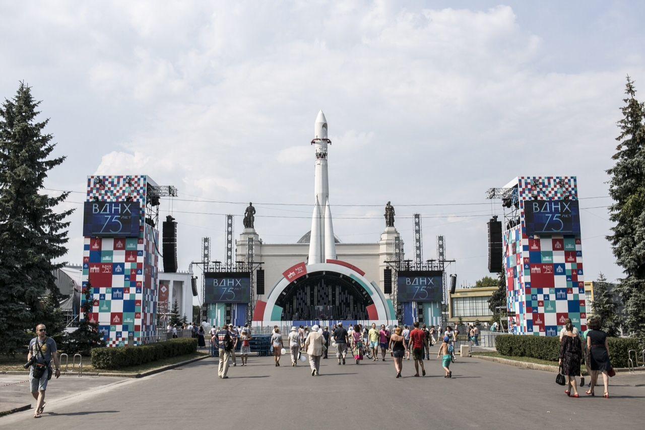 Проект посвящен  брендингу празднования 75-летия ВСХВ / ВДНХ / ВВЦ, торжества в честь которого пройдут в 2014 году под девизом «celebration of architecture».