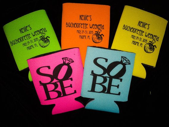 Koozies South Beach Bachelorette Party Miami Sobe By Headymementos