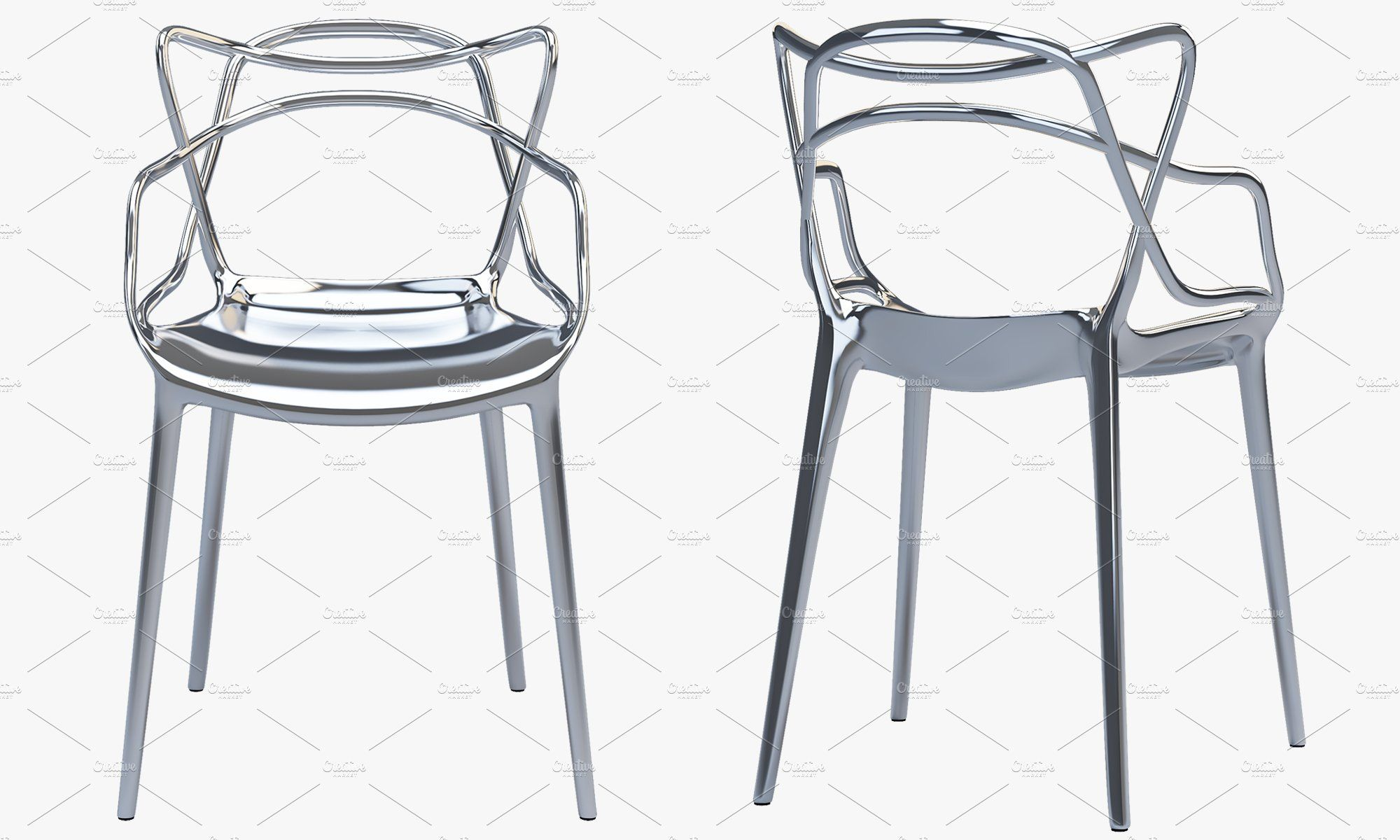 Kartell Masters Chair 3d Model Kartell Masters Chair Masters