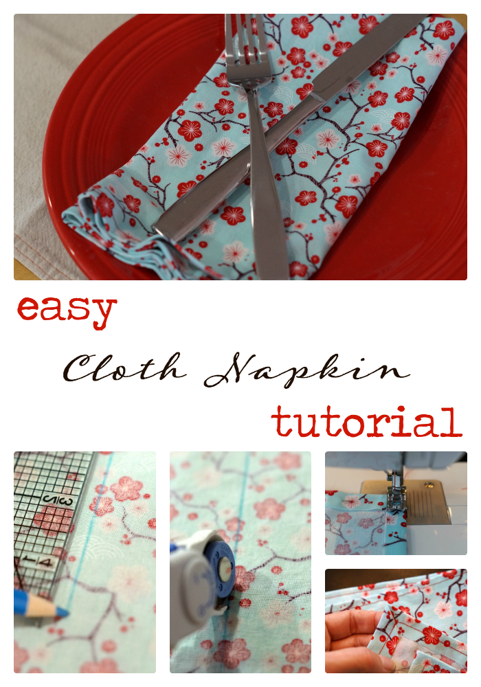 5 Simple Steps to Greener Living and an easy cloth napkin tutorial ...