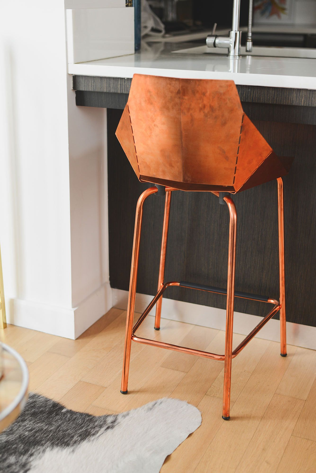 Merveilleux Blu Dot Real Good Copper Stool // At Home With Homepolishu0027s Noa Santos