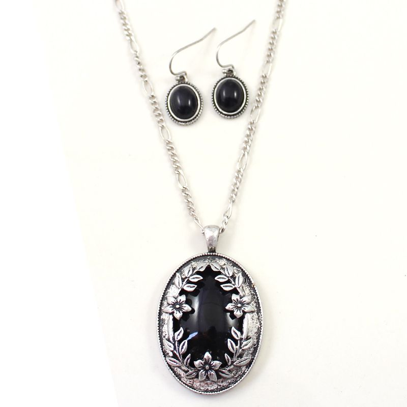 Black and Silver Jewelry Sets - See more stunning jewelry at StellarPieces.com!