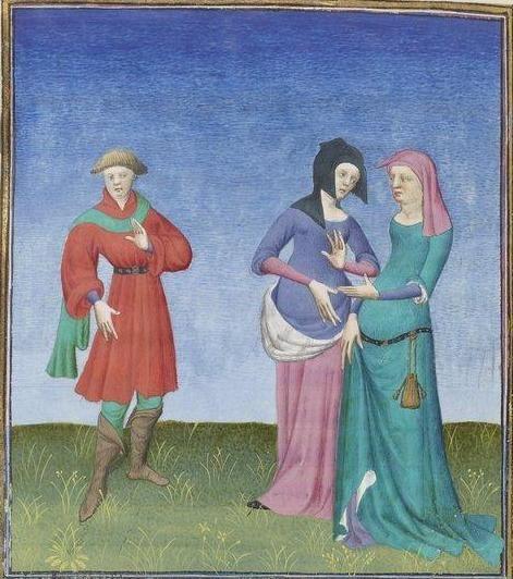 Publius Terencius Afer, Comoediae [comédies de Térence] ca. 1411;  Bibliothèque de l'Arsenal, Ms-664 réserve, 138v
