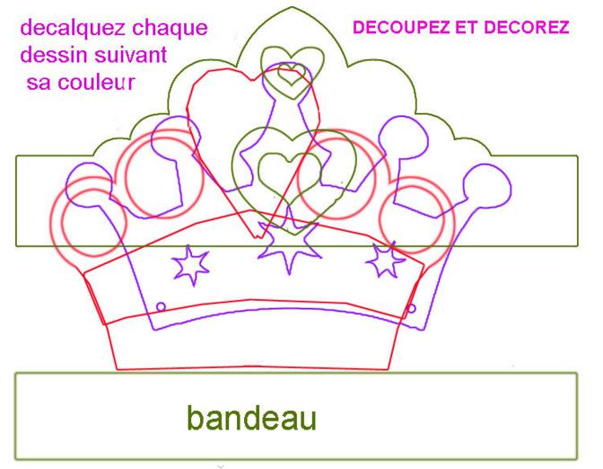 Gabarit couronne prince princesse pour piphanie et - Telecharger princesse sofia ...