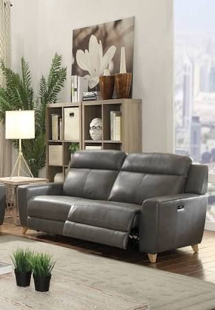 modern grey leather power recliner sofa - Google Search ...